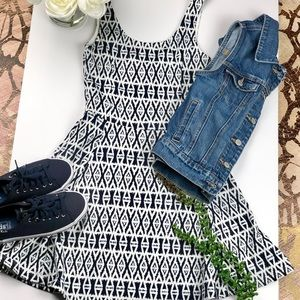H&M DIVIDED Printed Cami Dress Blue & White Size 4